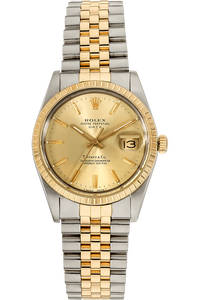 Date Circa 1986 Yellow Gold and Stainless Steel Automatic