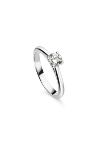 Joy Solitaire in 18K White Gold