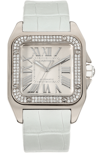 Santos 100 White Gold Automatic