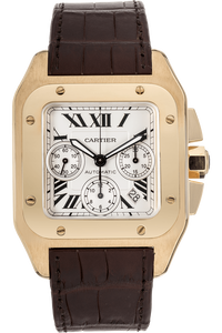 Santos 100 Chronograph Yellow Gold Automatic