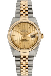 Datejust Tiffany & Co Yellow Gold and Stainless Steel Automatic