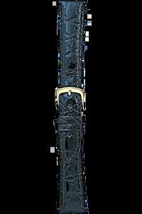 20 mm Black Crocodile Strap