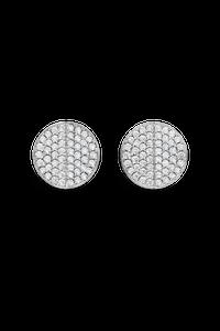 B Dimension Ear Pins in 18K White Gold