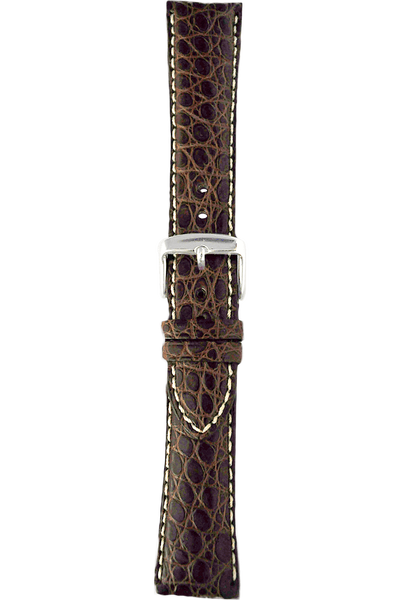 24 mm Brown Alligator Strap