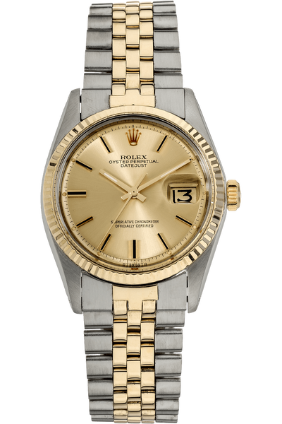 Datejust Circa 1970s Yellow Gold and Stainless Steel Automatic