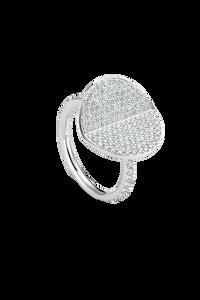 B Dimension Ring in 18K White Gold