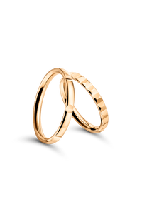B Dimension Lady's Wedding Ring in 18K Rose Gold