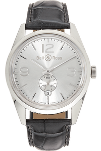 BR 123 Officer Silver Stainless Steel Automatic