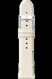 18MM Natural White Thin Saffiano Strap
