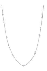 Floating Diamonds Necklace in 18K White Gold