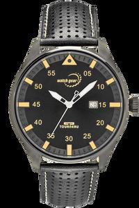 Men's Steel Black Dial