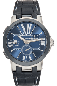 Executive Dual Time Ceramic and Stainless Steel Automatic