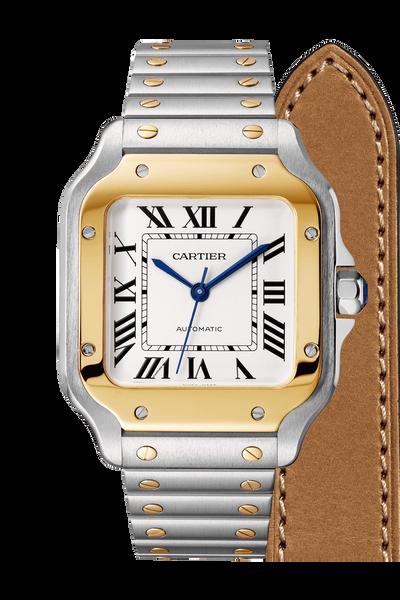 Santos de Cartier Yellow Gold & Steel, Medium