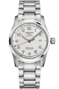 Longines Spirit 40mm Silver Dial Stainless Steel