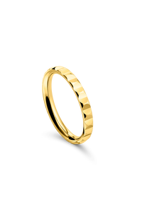 B Dimension Lady's Wedding Ring in 18K Yellow Gold