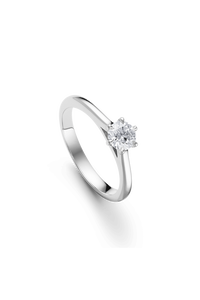 Joy six Solitaire in 18K White Gold