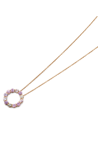 Pastello Pendant With Chain in 18K Rose Gold