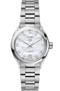 Carrera Calibre 9 Automatic Mother of Pearl Steel Watch