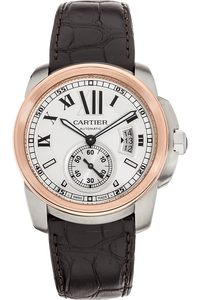 Calibre de Cartier  Rose Gold and Stainless Steel Automatic