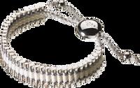Friendship Bracelet - Pewter/White