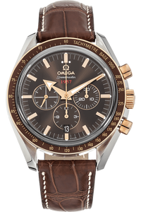 Speedmaster Broad Arrow Rose Gold and Stainless Steel Automatic
