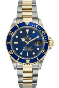 Submariner Swiss Made Dial Lug Holes Yellow Gold and Stainless Steel Automatic
