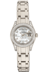 Pearlmaster Datejust White Gold Automatic