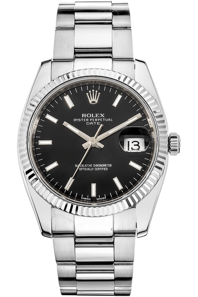 Date  White Gold and Stainless Steel Automatic