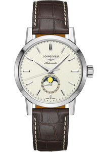 The Longines 1832 40mm Moonphase Alligator Strap