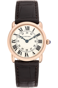 Ronde Louis Cartier Rose Gold Quartz