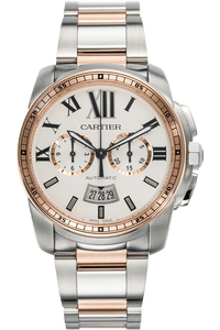 Calibre Chronograph Rose Gold and Stainless Steel Automatic