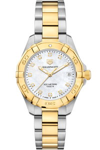 Aquaracer Lady 300M Steel and Gold Quartz