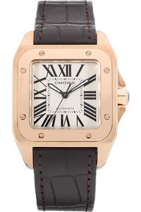 Santos 100 Rose Gold Automatic