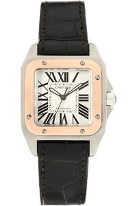 Santos 100 Rose Gold and Stainless Steel Automatic
