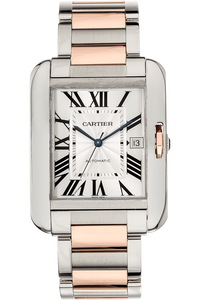Tank Anglaise XL Rose Gold and Stainless Steel Automatic