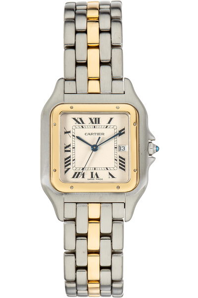 Panthere Yellow Gold and Stainless Steel Quartz