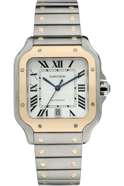 Santos de Cartier Yellow Gold and Stainless Steel Automatic