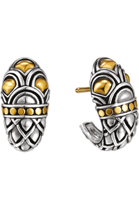 Naga Gold & Silver Earrings
