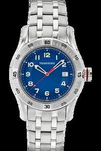 Men's Steel Arabic Blue Dial Bracelet