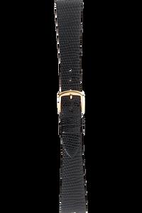 16 mm Black Lizard Strap