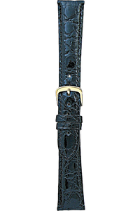 17 mm Black Crocodile Strap