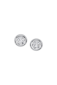 Darling Ear Pins in 18K White Gold