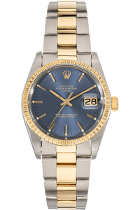 Date Circa 1975 Yellow Gold and Stainless Steel Automatic