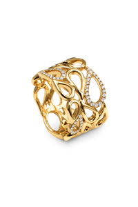 Lacrima Ring in 18K Yellow Gold