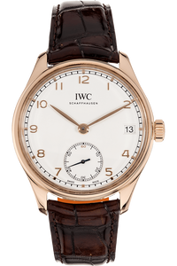 Portuguese Hand Wound Eight Days Rose Gold Manual