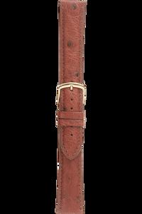 18 mm Cognac Ostrich Strap