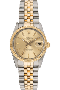 Date Circa 1981 Yellow Gold and Stainless Steel Automatic
