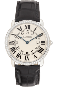 Ronde Louis Cartier White Gold Manual