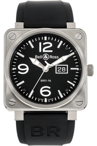 BR 01-96 Grande Date Stainless Steel Automatic