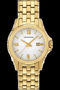 Ladies Gold Tone White Dial Bracelet